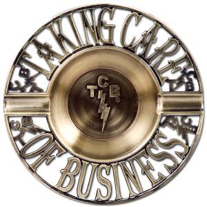 Elvis TCB Brass Ashtray