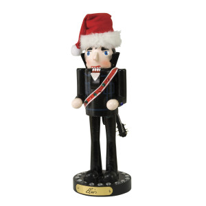 Elvis Black Suit Nutcracker