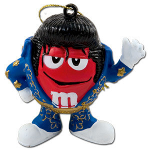 Elvis - M&M's Red Jumpsuit Ornament