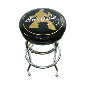 Elvis - Elvis in Gold Bar Stool