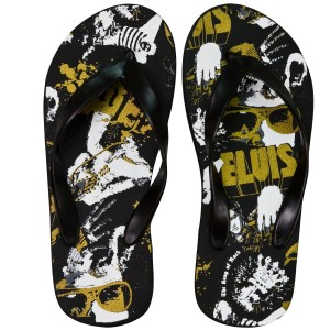Elvis The King Flip Flops