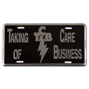 Elvis TCB License Plate