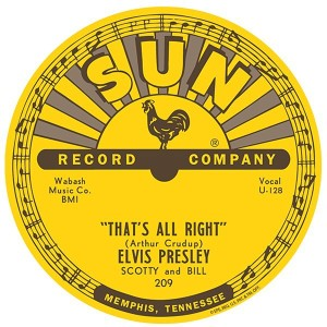Elvis Sun Records 'Thats All Right' 12 inch Sign