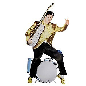 Elvis Nomad Wall Sticker - In Gold with Guitar
