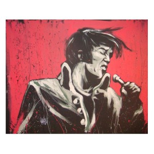 Elvis - Revolution Art Print by David Garibaldi