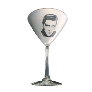 Elvis Classic '50s Martini Glass - Set of 2