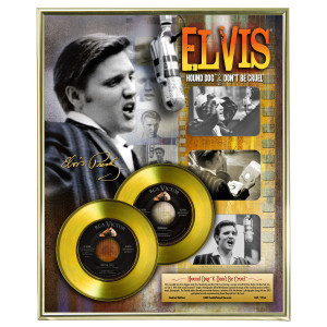 Hound Dog and Don't Be Cruel Limited Edition Framed Gold Record