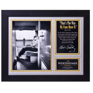 Elvis Way My Fans Hear It Framed and Matted Photo
