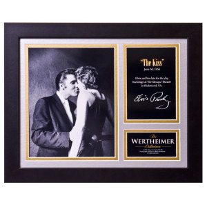 Elvis The Kiss Framed and Matted Photo