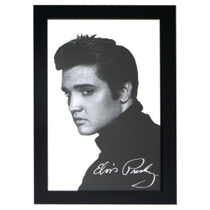 Elvis Wooden Framed Mirror