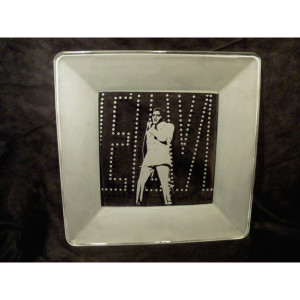 Elvis If I Can Dream Square Platter