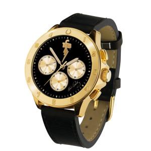 TCB Lucky Horseshoe Chronograph Watch - Gold