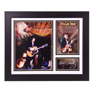 Elvis Viva Las Vegas Framed & Matted Photo