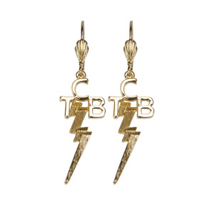 Elvis - TCB 18 kt Gold Plated Earrings