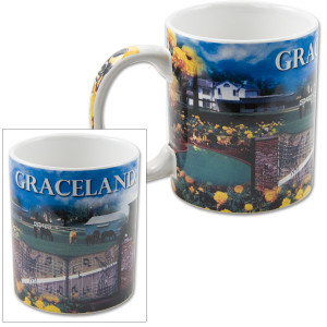 Elvis Graceland Collage Mug