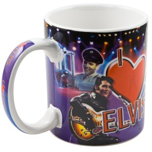 I Heart Elvis Collage Mug