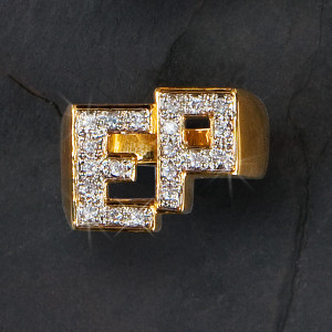 Elvis 18 kt Gold Plated Initials Ring