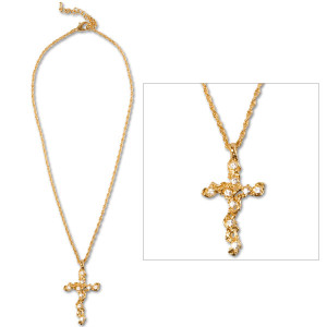 Elvis Swarovski Cross Necklace