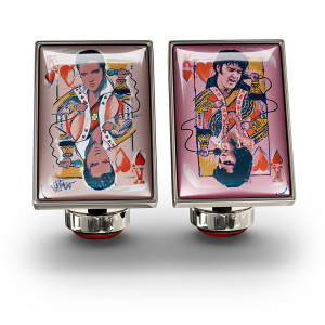 Elvis King of Hearts Cufflinks