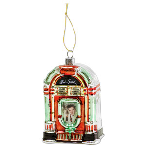 Elvis Jukebox Glass Ornament