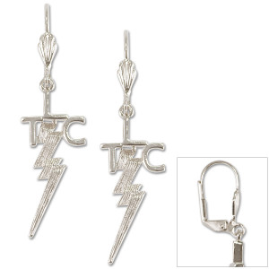 Elvis TCB Silver Plated Pierced Earrings