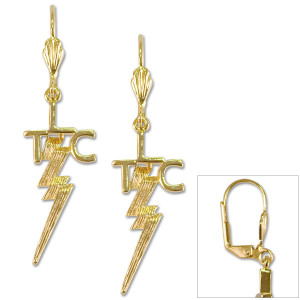 Elvis TLC 18K Gold Plated Pierced Earrings