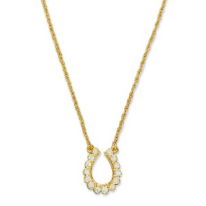 Elvis 18kt Gold Plated Horseshoe Necklace