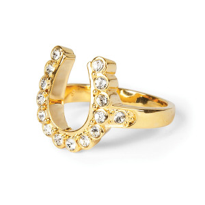 Elvis 18kt Gold Plated Horseshoe Ring