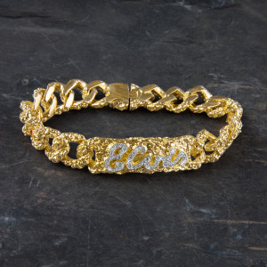 Elvis 18kt Gold Plated ID Bracelet