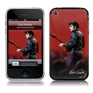 Elvis Leather iPhone 3G Skin
