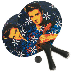 Elvis Blue Hawaii Beach Paddle Ball Set