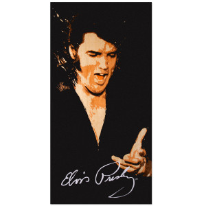 Elvis Singing Beach Towel