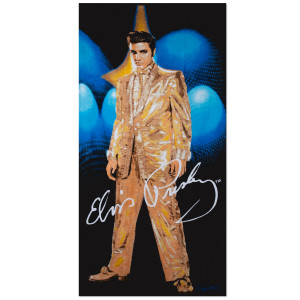 Elvis Gold Lame Beach Towel