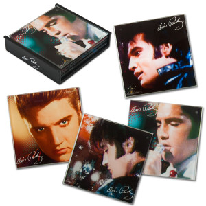 Elvis Faces Set of 4 Coasters