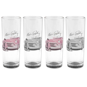 Elvis Pink Caddy Tall Shooters Set of 4
