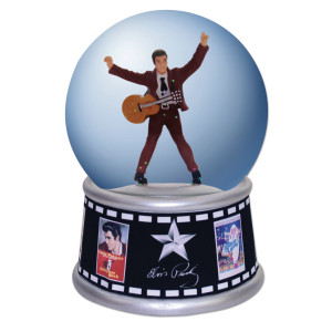 Elvis In the Movies 100mm Waterglobe