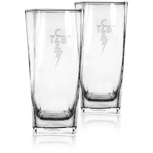 Elvis 15 oz. Deep-Etched TCB Glasses Set