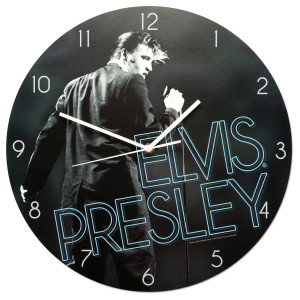 Elvis On Stage Wall Clock