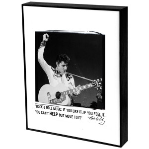 Elvis Rock & Roll Music Art Block Presentation