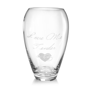 Elvis Love Me Tender Deep-Etched Vase