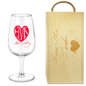 Elvis Love Me Tender Wine Glass Box Set