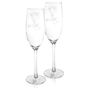 Elvis Signature 8 oz. Champagne Flutes Set of 2