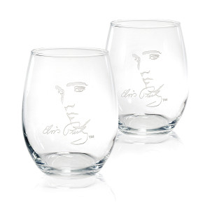 Elvis Signature 15 oz. Stemless Wine Glasses Set of 2
