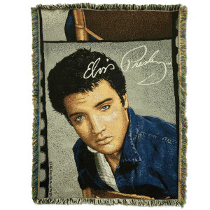 Elvis Idol Tapestry Throw