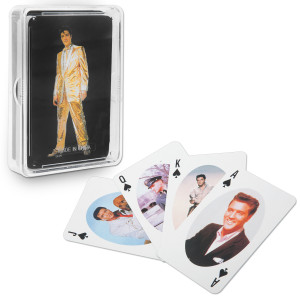 Elvis Gold Lame Playing Cards