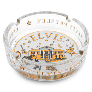 Elvis Graceland Glass Ashtray