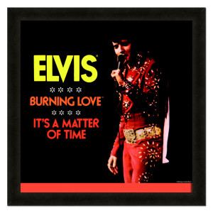 Elvis Burning Love Framed 20x20 Album Cover Art