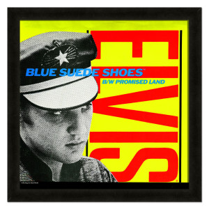 Elvis Blue Suede Shoes Framed 20x20 Album Cover Art