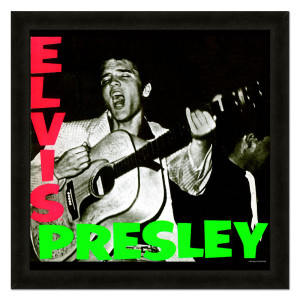 Elvis Presley Self-Titled Album Framed 20x20 Album Cover Art