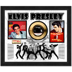 Elvis Jailhouse Rock Gold 45RPM Framed Presentation